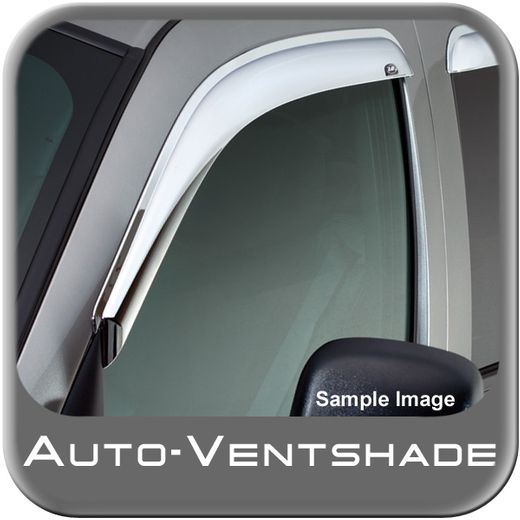Ford F650 Truck Rain Guards / Wind Deflectors 1999-2015 Ventvisor Chrome Plated ABS Plastic Front Pair Auto Ventshade AVS #682503