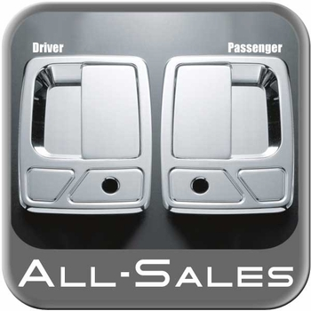 1999-2014 Ford F250 Truck SuperDuty Door Handle Levers & Buckets Driver & Passenger Sides w/Lock Holes Polished Aluminum 4-Pieces All Sales #510