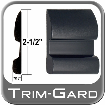 """2-1/2"""" Wide Black Body Side Molding Sold by the Foot, Trim Gard® # CV92"""