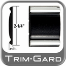 """2-1/4"""" Wide Black-Chrome Body Side Molding Sold by the Foot, Trim Gard® # 9002-01"""