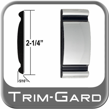 """2-1/4"""" Wide Chrome Body Side Molding Sold by the Foot, Trim Gard® # 9001"""