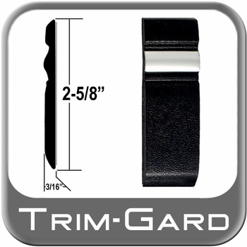 """2-5/8"""" Wide Black / Chrome Body Side Molding Sold by the Foot, Trim Gard® # S10"""