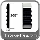 """2-5/8"""" Wide Black-Chrome Body Side Molding Sold by the Foot, Trim Gard® # TCT11-01"""