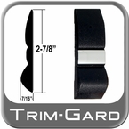 "2-7/8"" Wide Black / Chrome Body Side Molding Sold in 26 foot rolls, Trim Gard® # F150-26"