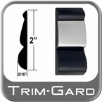 "2"" Wide Black / Chrome Body Side Molding Sold by the Foot, Trim Gard® # FD92"