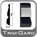"""2"""" Wide Black-Chrome Body Side Molding Sold by the Foot, Trim Gard® # FD92-01"""