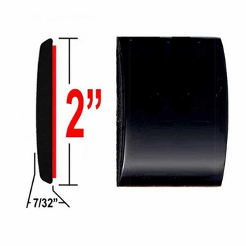 "2"" Wide Matte Black Molding Trim ( CP48 ), Sold by the Foot, ColorTrim Plastics® # 55-48"