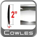 "2"" Wide Chrome Body Side Molding Sold by the Foot, Cowles® # 38-901-01"