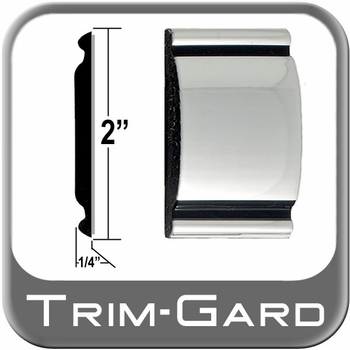 """2"""" Wide Chrome Body Side Molding Sold by the Foot, Trim Gard® # 2001"""