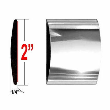"""2"""" Wide Chrome Body Side Molding Sold by the Foot, Trim Gard® # 99GT-01"""
