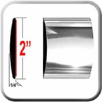 "2"" Wide Chrome Body Side Molding Sold by the Foot, Trim Gard® # 99GT-01-01"