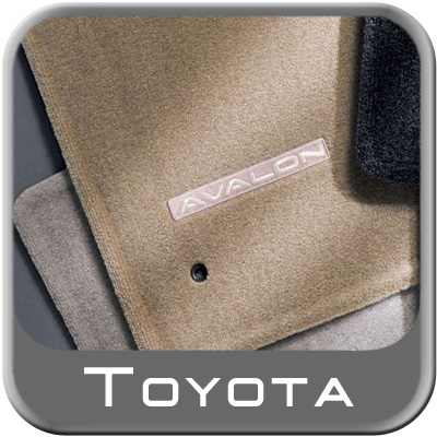 Toyota Avalon Carpeted Floor Mats 2000-2004 Taupe (Light Tan) 4-Piece Set Genuine Toyota #PT208-07000-15
