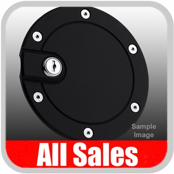 2000-2005 Ford Excursion Fuel Door Locking Style Billet Aluminum, Black Finish Sold Individually All Sales #6050KL