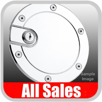 2000-2005 Ford Excursion Fuel Door Locking Style Billet Aluminum, Chrome Finish Sold Individually All Sales #6050CL