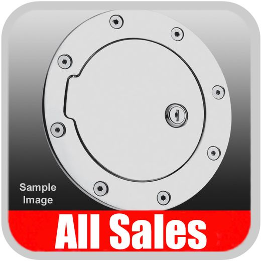 2000-2005 Ford Excursion Fuel Door Locking Style Billet Aluminum, Polished Aluminum Finish Sold Individually All Sales #6050PL