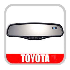 Toyota Rear View Mirror Auto Dimming Rear View Mirror with Compass and Temperature Display Genuine Toyota #PT732-06000