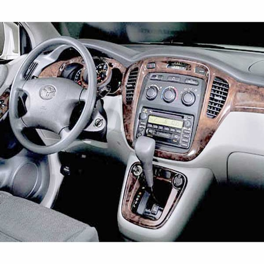 Toyota Highlander Wood Dash Kit 2002-2003 Simulated Burlwood Kit Genuine Toyota #PTS10-48010