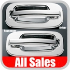 2002-2006 Chevy Avalanche Door Handle Levers & Buckets Driver & Passenger Sides w/No Lock Holes Chrome Finish 4-Pieces All Sales #902C