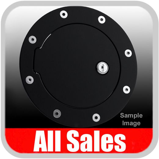 2002-2006 Chevy Avalanche Fuel Door Locking Style Billet Aluminum, Black Finish Sold Individually All Sales #6090KL