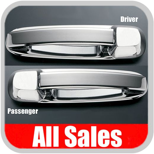 2002-2008 Dodge Ram Truck Door Handle Levers & Buckets Driver & Passenger Sides w/No Lock Holes Polished Aluminum 4-Pieces All Sales #402