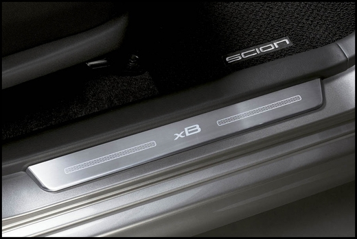 Scion xB Door Sill Protectors 2003-2007 Stainless Steel by ACSCO Front Pair Genuine Scion #PTS21-52032