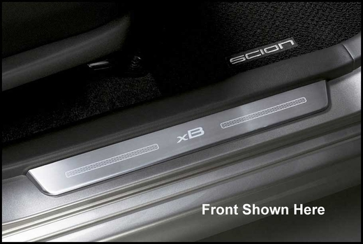 Scion xB Door Sill Protectors 2003-2007 Stainless Steel by ACSCO Rear Pair Genuine Scion #PTS21-52033