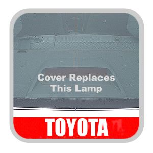 Toyota Corolla Third Brake Light Cover 2003-2008 Pebble Required for Spoiler Installation Genuine Toyota #PT593-02030-41