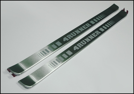 Toyota 4Runner Door Sill Protectors 2003-2009 Stainless Steel Front Pair Genuine Toyota #PTS21-89040