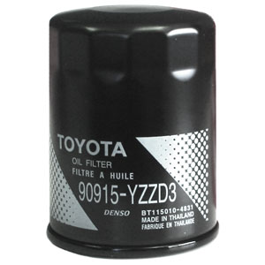Toyota Oil Filter Spin-on Style Direct Factory Replacement Genuine Toyota #90915-YZZD3