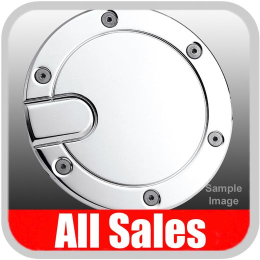 2004-2008 Ford F150 Truck Fuel Door Non-Locking Style Billet Aluminum, Chrome Finish Stepside & Flareside Models only Sold Individually All Sales #6053C
