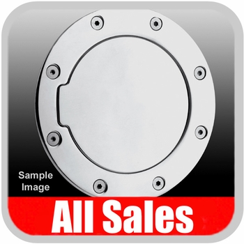 2004-2008 Ford F150 Truck Fuel Door Non-Locking Style Billet Aluminum, Polished Aluminum Finish Sold Individually All Sales #6053P