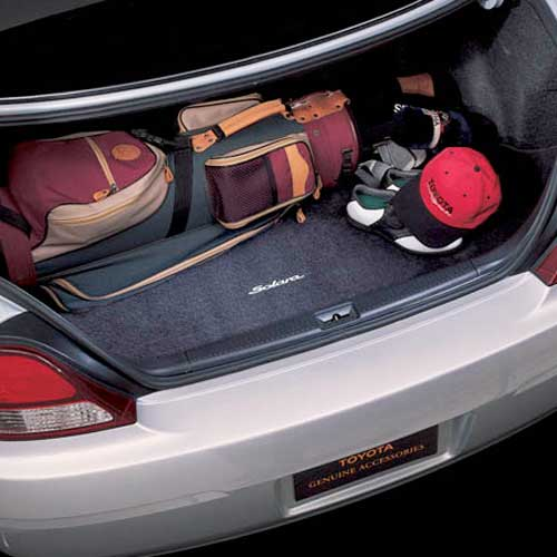 Toyota Solara Trunk Mat 2004-2008 Carpeted w/Logo Black Genuine Toyota #PT208-06043-02