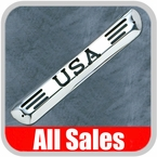 2004-2009 Chevy Colorado Third Brake Light Cover Polished Aluminum Finish w/ USA Cutout Sold Individually All Sales #95400P