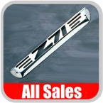 2004-2009 GMC Canyon Third Brake Light Cover Polished Aluminum Finish w/ Z71 Cutout Sold Individually All Sales #95008P