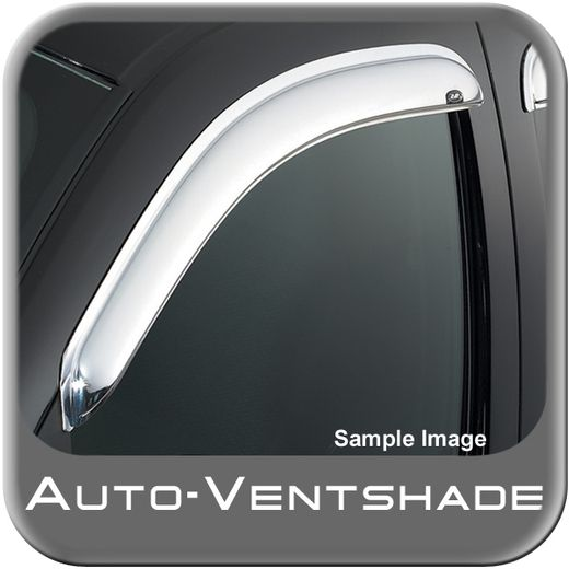 Ford F150 Truck Rain Guards / Wind Deflectors 2004-2014 Ventvisor Chrome Plated ABS Plastic Front Pair Auto Ventshade AVS #682741
