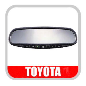 Toyota Tacoma Rear View Mirror 2005-2008 Auto Dimming Rear View Mirror Electrochromatic, Green Version Genuine Toyota #PT374-35053