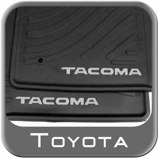 Toyota Tacoma Rubber Floor Mats 2005-2011 All-Weather Black Front Pair Genuine Toyota #PT908-35000-02