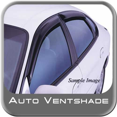 Hyundai Accent Rain Guards / Wind Deflectors 2007-2010 Ventvisor Dark Smoke Acrylic 4-piece Set Auto Ventshade AVS #94422