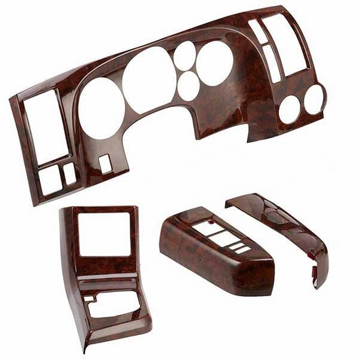 Toyota Tundra Wood Dash Kit 2007-2010 DX 4 piece by Superior Dash Genuine Toyota #PTS10-34073