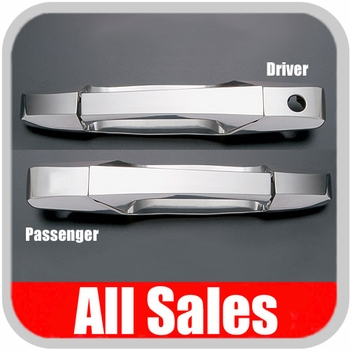 2007-2012 Cadillac Escalade Door Handle Levers & Buckets Driver & Passenger Sides w/Driver Side Lock Hole Only Chrome Finish 4-Pieces All Sales #941C