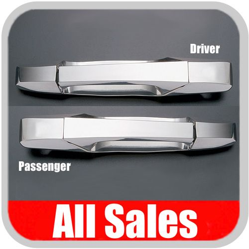 2007-2012 Chevy Suburban Door Handle Levers & Buckets Driver & Passenger Sides w/No Lock Holes Polished Aluminum 4-Pieces All Sales #942