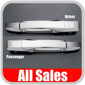2007-2012 Chevy Truck Door Handle Levers & Buckets Driver & Passenger Sides w/No Lock Holes Polished Aluminum 4-Pieces All Sales #942
