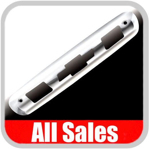 2007-2012 Chevy Truck Third Brake Light Cover Polished Aluminum Finish w/ Bow Tie Cutout Sold Individually All Sales #98000P