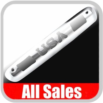 2007-2012 Chevy Truck Third Brake Light Cover Polished Aluminum Finish w/ USA Cutout Sold Individually All Sales #98400P