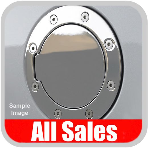 2007-2012 GMC Truck Fuel Door Non-Locking Style Billet Aluminum, Chrome Finish Sold Individually All Sales #6101C