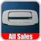 2007-2012 GMC Truck Tailgate Handle Lever & Bucket Handle & Bucket Assembly Polished Aluminum Finish Plain Smooth Design 2-Pieces All Sales #943