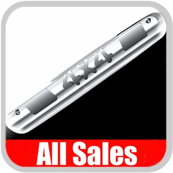 2007-2012 GMC Truck Third Brake Light Cover Polished Aluminum Finish w/ 4 X 4 Cutout Sold Individually All Sales #98004P