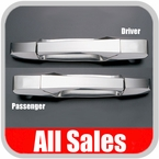 2007-2012 GMC Yukon Door Handle Levers & Buckets Driver & Passenger Sides w/No Lock Holes Polished Aluminum 4-Pieces All Sales #942