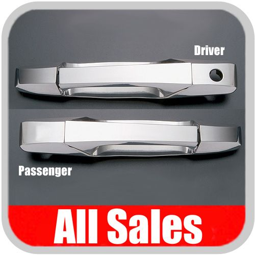 2007-2012 GMC Yukon Door Handle Levers & Buckets Driver & Passenger Sides w/Driver Side Lock Hole Only Polished Aluminum 4-Pieces All Sales #941