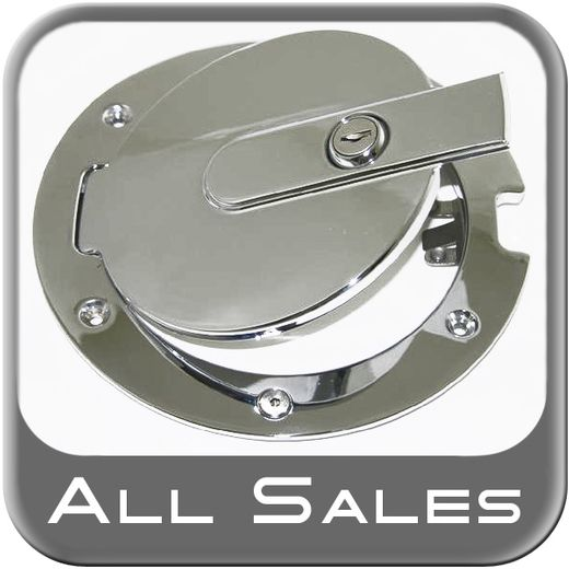 2007-2012 Toyota Tundra Fuel Door Locking Style Billet Aluminum, Chrome Finish Sold Individually All Sales #6070CL